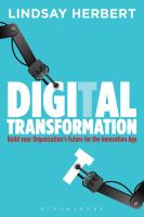 Book Jacket for: Digital transformation : build your organization's future for the innovation age