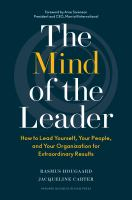 Book Jacket for: The mind of the leader : how to lead yourself, your people, and your organization for extraordinary results